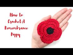 I've been wanting to do this tutorial for a while now but have been procrastinating. With Remembrance Day upon us I thought it was a. Crochet Crafts, Easy Crochet, Crochet Hooks, Crochet Projects, Crochet Tutorials, Crochet Ideas, Knitted Poppies, Crochet Flowers, Knitted Poppy Free Pattern