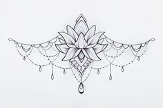Cool Chest Tattoos, Chest Tattoos For Women, Chest Piece Tattoos, Dope Tattoos, Body Art Tattoos, Small Tattoos, Sleeve Tattoos, Tatoos, Sternum Tattoo Lotus