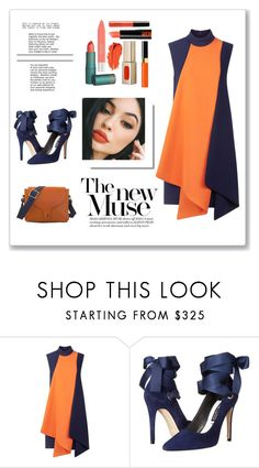 """#Navy ORANGE"" by xiaoluhunnie ❤ liked on Polyvore featuring beauty, Victoria, Victoria Beckham, Alice + Olivia and C.Nicol"
