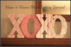 Valentines Day Craft- Hugs n Kisses Block Letters Tutorial @Stacie Bass by roxanne
