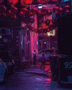 Les lumières dans la nuit de Tokyo