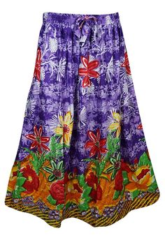f4fd5cd7e8 Mogul Interior Womens Retro Skirts Printed A-Line Flirty Bohemian Long Skirt  (Purple): Amazon.co.uk: Clothing