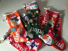 Botas de Navidad preparadas para la llegada de papa Noel #porencargo #christmas #noel #stocking
