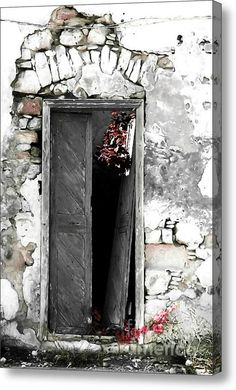 Cretan Door No3c Acrylic Print #photograpy #painting #digitalart #greek #cretan #old #house #door #wall #damaged #europe #urban #greekdoors #piaschneider #artprint #acrylicprint #fineartamerica  #fineartphotography #home #decor #walldecoration #impressionism #interiorstyle