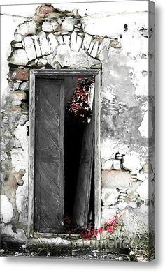Cretan Door No3c Acrylic Print #photograpy #painting #digitalart #greek #cretan #old #house #door #wall #damaged #europe #urban #greekdoors #piaschneider #artprint #acrylicprint #fineartamerica  #fineartphotography #home #decor #walldecoration #impressionism #interiorstyle