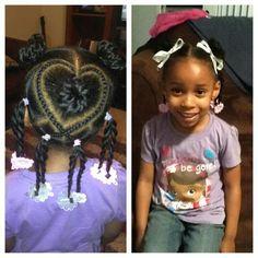 Kids styles: heart cornrows