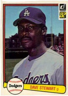 1982 Donruss 410 Dave Stewart Los Angeles Dodgers baseball card