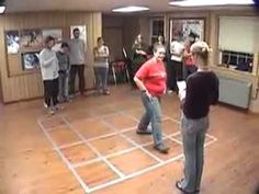The maze game. Great teambuilding activity. For social thinking could use with power of eyes: person in front use eye gaze to direct. Players use eyes to pay attention and follow.