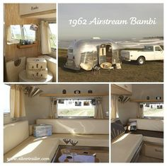 "Silver Trailer's Airstream Bambi, ""Norma"", featured in: Road Tripping in Style: Caravans, Airstreams RVs Airstream Bambi, Airstream Rental, Airstream Remodel, Airstream Interior, Vintage Airstream, Airstream Trailers, Vintage Travel Trailers, Vintage Campers, Airstream Living"