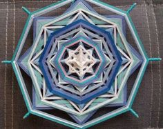 Items similar to Home Fireplace, yarn mandala ~ Ojo de Dios, 17 inches (44 cm), 8-sided, wall hanging on Etsy