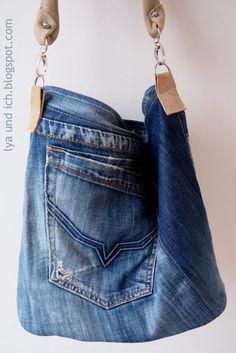 a765fbf28c77 295 besten Jeans Ideen Bilder auf Pinterest   Old jeans, Denim bag ...