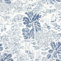 Homeport Novelty - Marine - Conversationals - Wallcovering - Products - Ralph Lauren Home - RalphLaurenHome.com