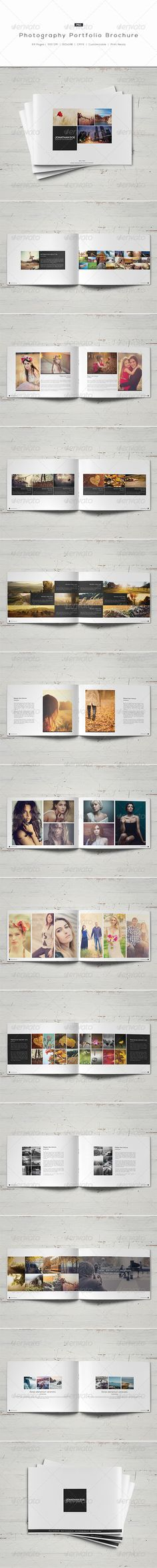 Photography Portfolio Brochure - Liking the balance and symmetry used in these layouts