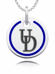 Mia Diamonds 925 Sterling Silver LogoArt University of Iowa Medium Pendant with Necklace