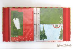 Capture your December memories with an Elf Magic Misc Me Journal created by Juliana Michaels. Love how she decorated all the pages. #BoBunny, @Juliana Michaels