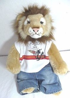 Lion build a bear #world #wildlife fund plush #stuffed animal with clothes and ta,  View more on the LINK: http://www.zeppy.io/product/gb/2/131747888643/