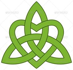 Celtic Triquetra Knot with a Heart