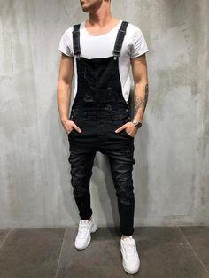 ea5eda2c80e Men Denim Overall Bib Jumper Jeans - Black 3885. Salopette Jean HommeHomme  NoirVêtements ...