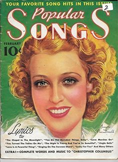 Popular Songs Magazine February 1937 Vol. 3 No. 2 (Jeanette MacDonald)