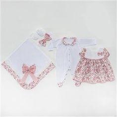 Saída Maternidade Vestido Pituquinha Rosa RN