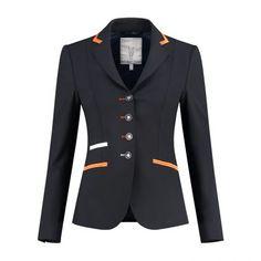 Vilililiv by Juuls riding jacket navy, light blue & Swarovski®elements Equestrian Outfits, Equestrian Style, Show Jackets, Riding Jacket, Blazer Fashion, Blue Accents, Taupe, Swarovski, Light Blue
