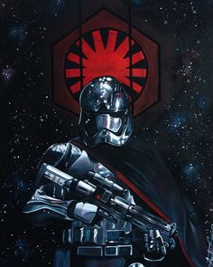 """art-awakens: """" Here's my """"Captain Phasma"""" Fan art painting! 24""""x30"""" Acrylic by me (Audrée Lavoie) I'm from Quebec, Canada and I'm 19 years old! """""""