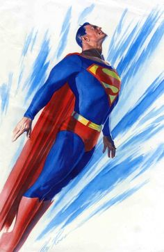 ALEX ROSS- Superman - Color test painting