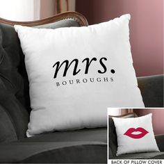 Hers Throw Pillow Cover
