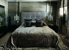 About Us - Kelly Hoppen Interiors Rustic Country Bedrooms, Rustic Bedroom Design, Rustic Bedroom Furniture, Home Decor Bedroom, Bedroom Ideas, Bedroom Designs, Rustic Nursery, Gray Bedroom, Bedroom Bed