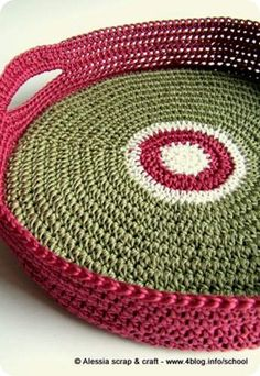 tray idea #crochet