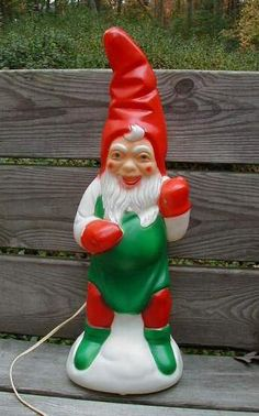 Vintage Christmas Blow Mold ~ Empire Plastic Christmas Elf