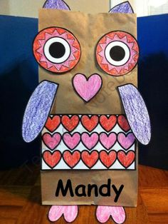 Valentine owl easy to make and cute for parents or friends Put