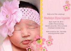 Welcome Madelyn