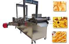 Gas Banana Chips Continuous Fryer Machine with Conveyor Fryer Machine, Fried Bananas, Banana Chips, Pork Rinds, Kitchen Cart, Commercial, Kitchen Appliances, Deep Fryer, Diy Kitchen Appliances