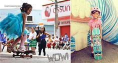 Fada dos skates! Conheça Rayssa Leal, a skatista maranhense de 7 anos que conquistou Tony Hawk com suas manobras ousadas:http://goo.gl/F6hwPj