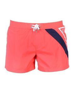 4eb2c25456 GUESS Men's Swim trunks Coral XXL INT Man Swimming, Swim Shorts, Swim  Trunks,
