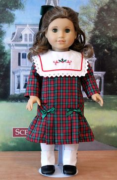 Christmas Dress and Bloomers for Rebecca or by BabiesArtUs on Etsy, $62.00