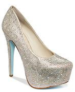 BLUE by BETSEY JOHNSON Wish Platform Evening Pumps Champagne $150 FREE WORLDWIDE DELIVERY