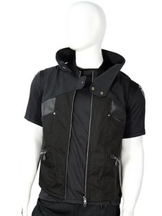 Cyberpunk mens vest with faux leather details by Plastik Wrap. on Etsy, $153.45 CAD