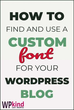 Find out how to use a custom Google font on your WordPress blog with this tutorial. Enhance your blog design with this handy tutorial. Contains tips for choosing a font, how to use your selected font on your blog, tweak it with CSS styling, and how to select a Google font in your WordPress theme options. #wordpressdesign #wordpresstips #wordpresstutorials #wordpressforbeginners #wordpressthemes #bloggingtips #bloggingforbeginners Wordpress For Beginners, Learn Wordpress, Blogging For Beginners, Wordpress Premium, Custom Fonts, Blog Design, Blog Tips, How To Start A Blog