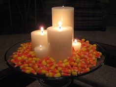 Candy Corn & Candles