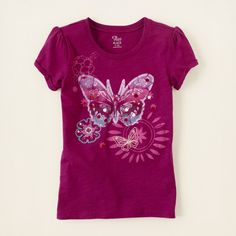 girl - short sleeve tops - novelty knits - sequin graphic top | Children's Clothing | Kids Clothes | The Children's Place