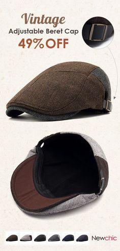 628ee8396 Men Winter Cotton Adjustable Hat Warm Vogue Vintage Outdoor Snow Beret Cap  is hot sale on Newchic.