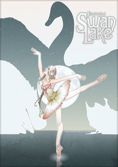 Cover art for my Final Major Project - illustrate a children's story Pencil, Swan Lake Ballerina Illustration, Illustration Art, Ballet Posters, Swan Lake Ballet, Ballet Painting, Ballet Pictures, Art Deco Posters, Anime Drawings Sketches, Fairytale Art