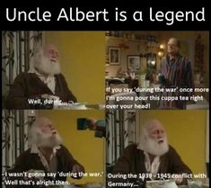 Uncle Albert, Only Fools And Horses, Cuppa Tea, The Fool, Funny Shit, Sayings, Art, Funny Things, Craft Art