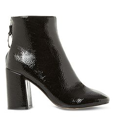STEVE MADDEN Posed patent-effect heeled ankle boots. #stevemadden #shoes #