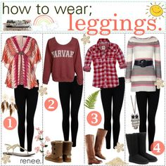 how to wear; leggings. ♥, created by thepolyvoretipgirls.polyvore.com