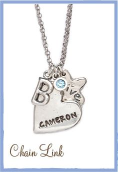 Customizable jewelry. Great for Mothers Day.