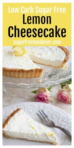 Zingy and refreshing this low carb lemon cheesecake tart is a heavenly creamy highlight to any meal. Your family will never guess it's sugar free! Keto gluten free and diabetic-friendly. How can I drop 20 pounds fast? Sugar Free Desserts, Low Carb Desserts, Low Carb Recipes, Dessert Recipes, Cooking Recipes, Diabetic Recipes, Healthy Desserts, Banting Desserts, Dinner Recipes