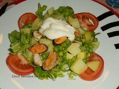 Cinco sentidos na cozinha: Salada de batata com mexilhão